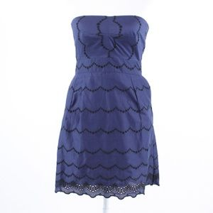 J.Crew blue cotton sheath dress 2